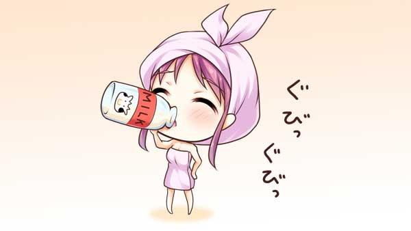 銭湯で飲む牛乳